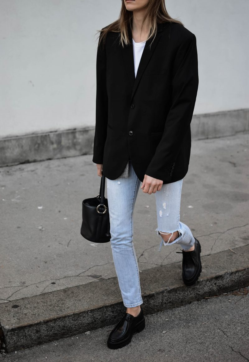 chunky shoes outfit