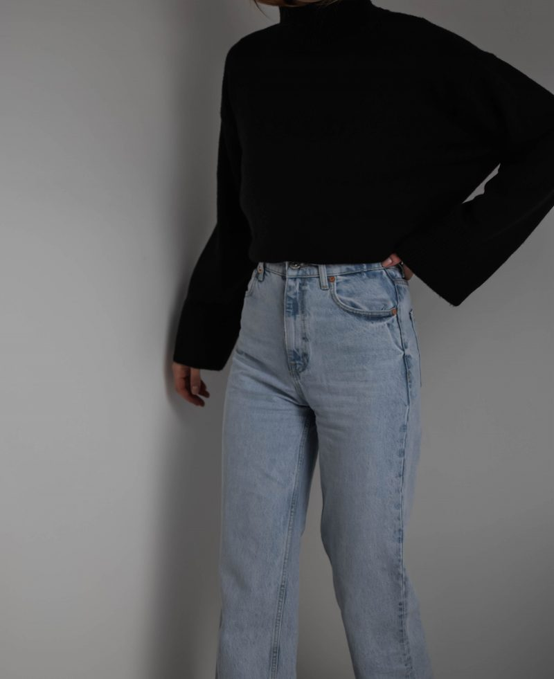 basic black turtleneck outfit, h&m haul, hm haul, clothing haul