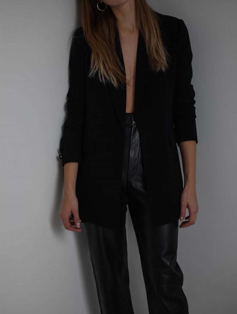 french connection blazer, black blazer outfit