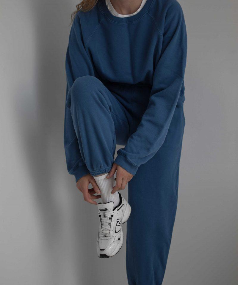 katarinavidd revolve sixthreeseven blue jogger sweatpants suit, minimal, retro sporty style, new balance 452
