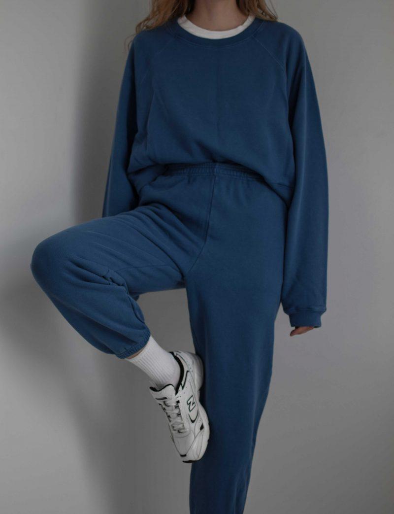 katarinavidd sixthreeseven blue jogger sweatpants suit, minimal, retro sporty style
